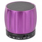 S13 Portable 3W Bluetooth V2.0 / V2.1 Speaker w/ Mic / Mini USB / TF - Purple + Black