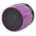 S13 Portable 3W Bluetooth V2.0 / V2.1 Altavoz w / Mic / Mini USB / TF - Púrpura + Negro