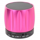 S13 Portable 3W Bluetooth V2.0 / V2.1 Speaker w/ Mic / Mini USB / TF - Deep Pink + Black
