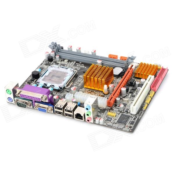 G41-771 LGA771 Socket ATX Dual-CH Computer Motherboard - Black + Golden + Multicolored