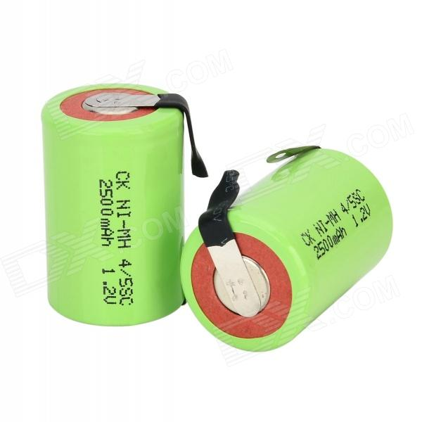 CK Ni-MH 4/5SC 1600mAh 1.2V Rechargeable Battery - Grass Green maxell er17 33 non rechargeable 3 5v 1600mah battery