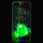 Stylish 3D Patterned Plastic Back Case w/ RGB LED Light for IPHONE 5 / 5S - Multicolored