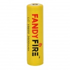 FANDYFIRE 3.7V 1300mAh 18650 Li-ion Rechargeable Battery - Yellow