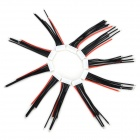 XH-6P Universal Silicon + Copper Li-ion Battery Cables - White + Black + Red (10 PCS)