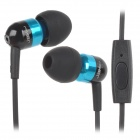 JBM Fashion Mini 3.5mm Stereo In-Ear Earphone w/ Microphone - Blue + Black