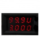 "0.28 ""Red LED Dual-Display 4-Digital Voltaje actual del metro / Amperímetro / Voltímetro - Negro"