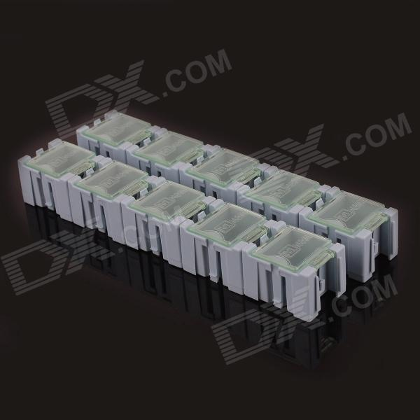 TAL4 10-in-1 SMT Electronic Component Storage Box - Blue + Translucent White (30 x 23 x 20mm) free shipping ad7876 ad7876aq ad7876bq double pin dip ceramic electronic component electronic components ic