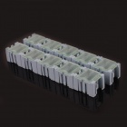 TAL4 10-in-1 SMT Electronic Component Storage Box - Blue + Translucent White (30 x 23 x 20mm)