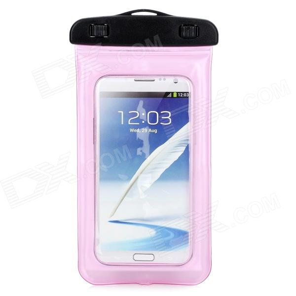 Convenient Waterproof PVC Bag for Samsung Note 3 / T100 / S5 / 9220 + More - Pink (L)