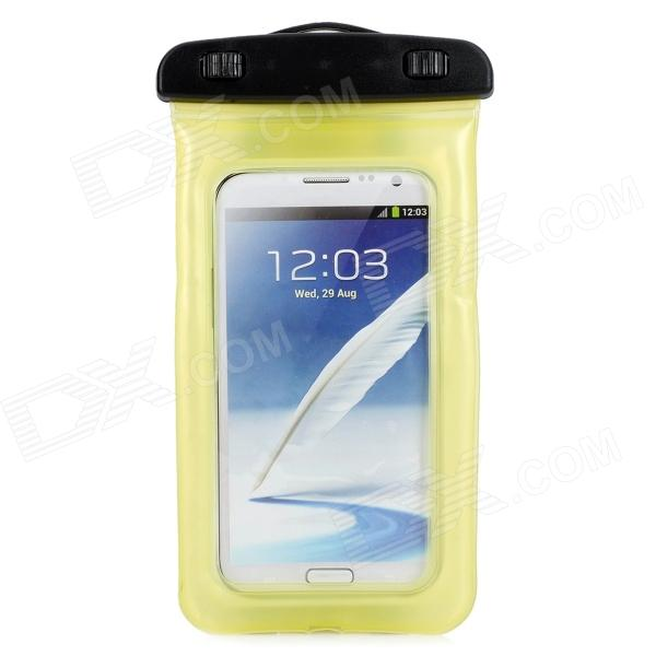 Convenient Waterproof PVC Bag for Samsung Note 3 / T100 / S5 / 9220 + More - Yellow (L)