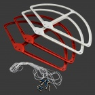 Beskyttende Nylon Blade Ring Set for DJI PHANTOM 2V - Hvit + Wine Red