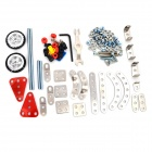 XW  XW088949 DIY Alloy Motorcycle Assembling Model - White + Red + Multicolored