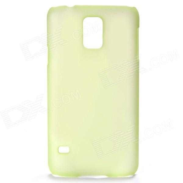 Protective Frosted PC Back Case for Samsung Galaxy S5 - Translucent Green protective tpu pc bumper frame for samsung galaxy s5 mini green