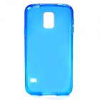Protective TPU Back Case for Samsung Galaxy S5 - Translucent Blue
