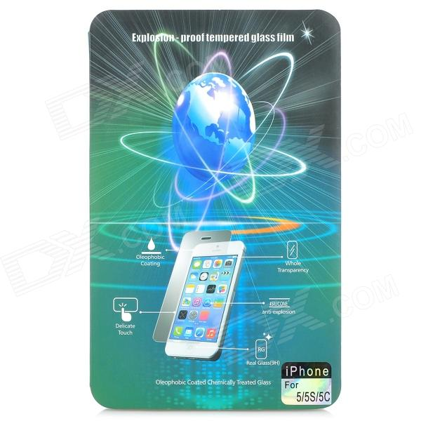 Electroplating Tempered Glass Mirror Screen Guard Film for IPHONE 5 / 5C / 5S devia 3d curved tempered glass screen film anti blue ray full size for iphone 7 4 7 black