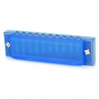 Swan SW1020-2 Aluminum + ABS 10-Hole C-Tune Harmonica - Blue + Silver + Multicolored