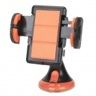 JHD-12HD36 Universal Car Holder Mount for Cellphone - Black + Orange