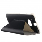 KALAIDENG Protective PU Leather Case for HTC One 2 (M8) - Black
