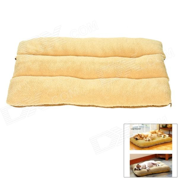 Comfortable Soft Lining Short Plush Mat Bed for Big Pet Dog - Light Yellow