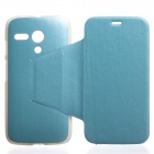 KALAIDENG Protective PU Leather Case for Motorola MOTO G -Blue