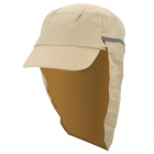 OUTFLY Outdoor Polyester Sunproof Hat / Cap w/ Collapsible Neck Cover for Men - Khaki