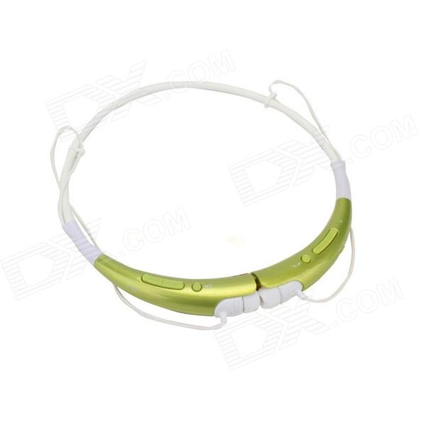 Kinrener HBS-740 Bluetooth V4.0 APTX Wireless Stereo Headset Headphone w/ Microphone - Green + White lg hbs 700 bluetooth v2 1 wireless stereo headset headphone w microphone white orange