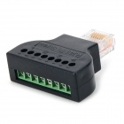 RJ45 to Screw Network Adapter - Black