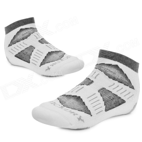NUCKILY PF01 Men's Comfortable Cotton Sports Socks - White (Pair)
