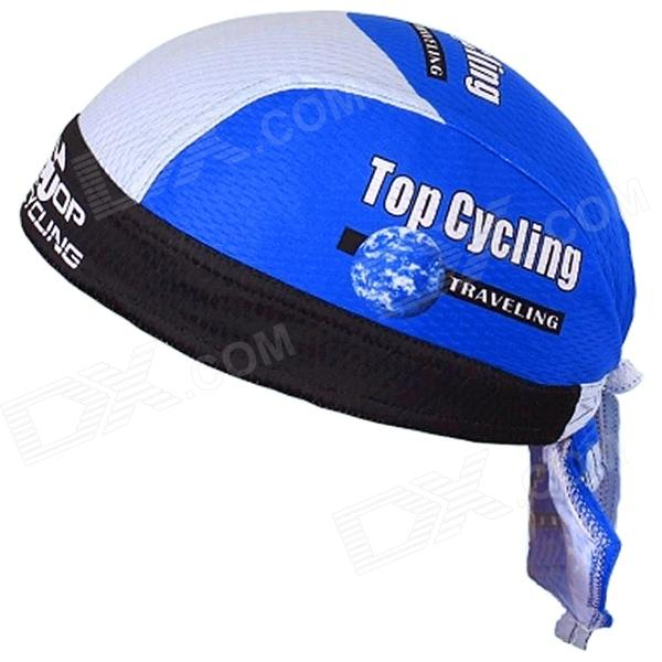 TOPCYCLING 06 Cycling UV Protection Sweat-absorbent Hat - Black Blue (Free Size)