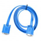 VGA Male to Male Flat Connection Cable - Deep Blue (1.8m)