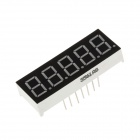 "3561AS 1.5"" 5bit Common Anode Red LED 7-Segment Display - Black + White (5PCS)"