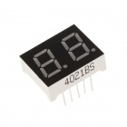 4201BS 1 Inch 2bit Common Anode Red LED 7-Segment Display - Black + White (5PCS)