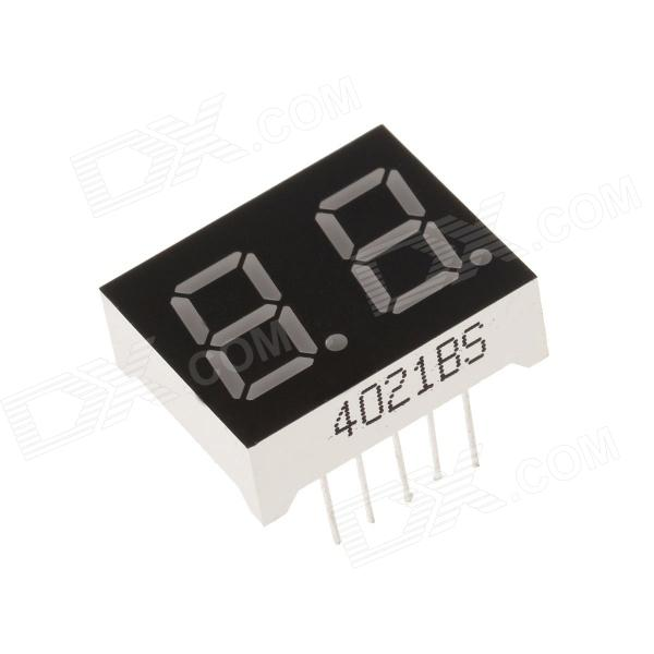 4021BS 1 Inch 2bit ánodo común LED verde 7 segmentos Display - Negro + blanco (5PCS)