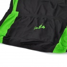 CHEJI ZT-02 Outdoor Cycling Polyester Short-Sleeve T-shirt + Shorts for Men - Green + Black (XL)