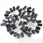 DRDJ3 Aluminum 10V / 1000UF Electrolytic Capacitor for DIY Project - Black (50 PCS)