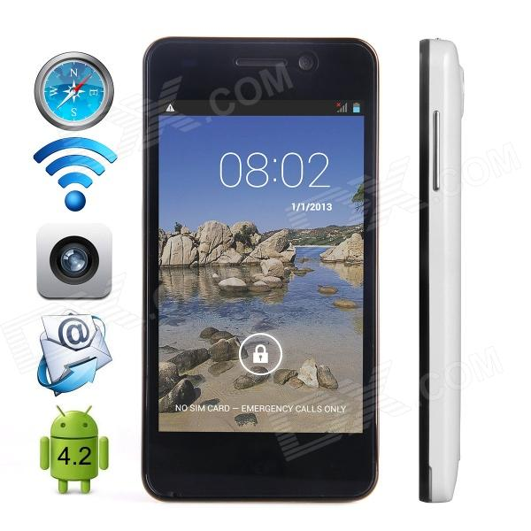 "CUBOT GT90 Dual-Core Android 4.2 WCDMA Bar Phone w/ 4.0"", Wi-Fi, GPS and Dual-SIM - White"