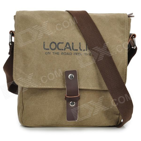 Locallion 1302 Casual Waterproof Canvas Bag - Khaki