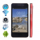 "CUBOT GT90 Dual-Core Android 4.2 WCDMA Bar Phone w/ 4.0"", Wi-Fi, GPS and Dual-SIM - Red"