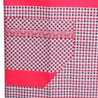 Grid Pattern Cute Polyester Kitchen Apron - Red + Brown + Multicolored
