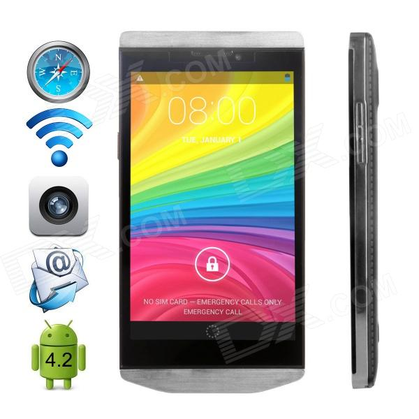 "CUBOT Android 4.2.2 WCDMA Bar Phone avec IPS 4,3 "", Wi-Fi, GPS et Dual-SIM-Argent"