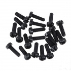 ZnDiy-BRY R205-310 M3 x 10 Plastic Nylon Screws for Multicopter Flight - Black (20PCS)