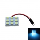 T10 / BA9S / Festoon 1.5W 80lm 9 x SMD 5050 LED Ice Blue Car Reading Light / Panel Light - (12V)