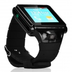 "IK08 WCDMA Android 4.0 Dual-core Watch Phone w/ 1.56"" Screen, Bluetooth and Wi-Fi - Black"