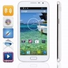 "KICCY N7100 MTK6572 Dual-core Android 4.2 WCDMA Bar Phone w/ 5.3"" IPS, Wi-Fi, GPS , 4GB ROM - White"