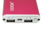 ODEM ZHX-F100 10000mAh Polymer Battery Charger Mobile Power Bank - Red