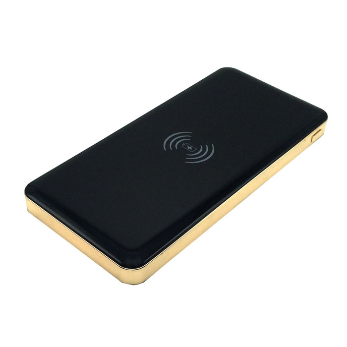 WP-800 QI Wireless 10000mAh Mobile Power Bank - Black + Golden