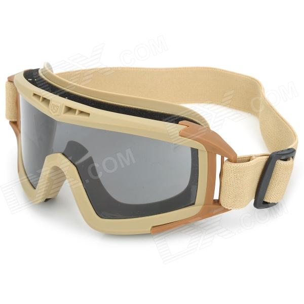 SW2038 Protective Windproof Goggles w/ Replacement Lens - Brown