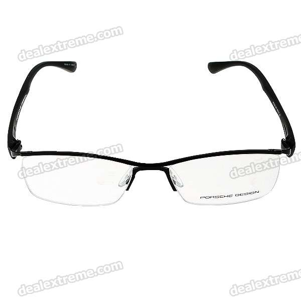 Monalisa Alloy Half Frame Glasses/Spectacles with Protective Case (Smalt)