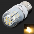 JRLED E27 4W 300lm 3200K 48-3014 SMD LED Warm White Lamp - Silver + White (AC 85~265V)