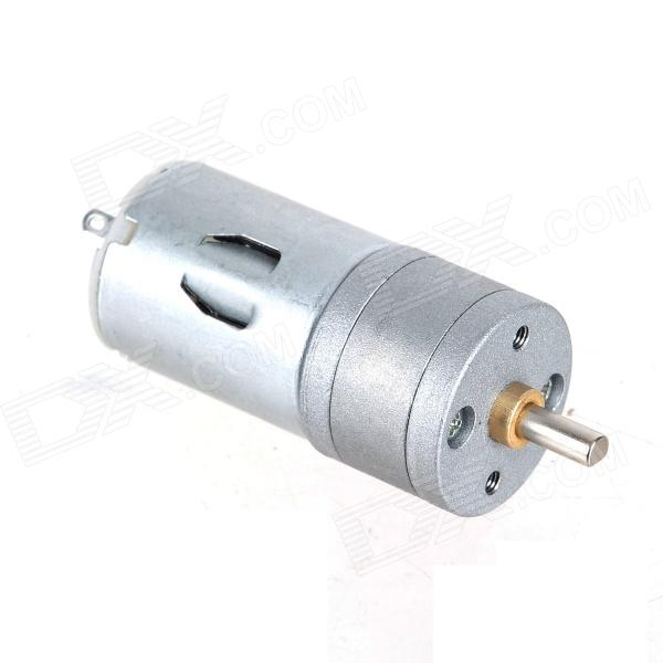 ZnDiy-BRY 25GA-1200 DC 12V 1200RPM / DC 6V 600RPM High Torque Gear Motor - Silver zndiy bry dc 12v 3 5rpm 37mm high torque gear box electric motor silver